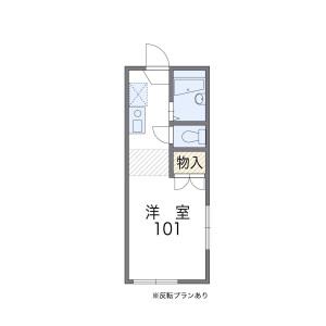 1K Apartment in Ishikawa - Fujisawa-shi Floorplan