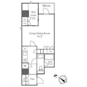 1LDK Mansion in Kitamachi - Shinjuku-ku Floorplan