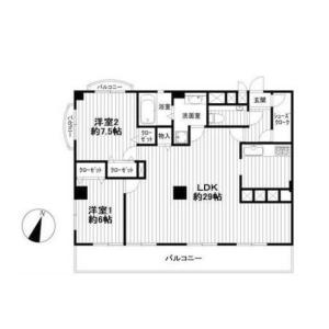 2LDK {building type} in Nakane - Meguro-ku Floorplan