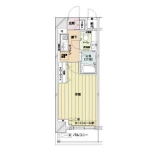 1K Apartment in Ebisu - Shibuya-ku Floorplan