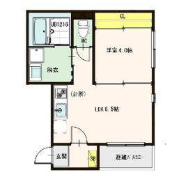 1LDK Mansion in Utajima - Osaka-shi Nishiyodogawa-ku Floorplan