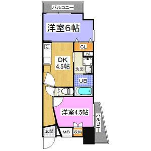 2DK Mansion in Naniwacho - Osaka-shi Kita-ku Floorplan