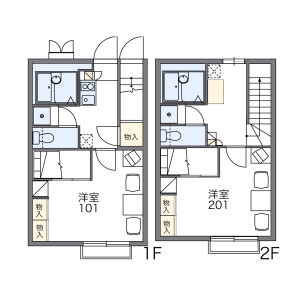 1K Apartment in Miyacho - Gamagori-shi Floorplan