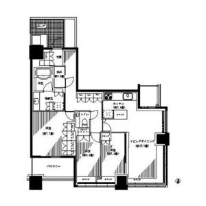 3LDK Mansion in Takashima - Yokohama-shi Nishi-ku Floorplan
