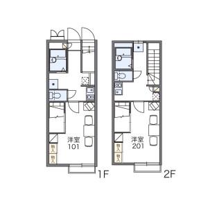 福岡市東區土井-1K公寓 房間格局
