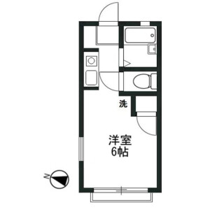 1R Apartment in Izumicho - Sakado-shi Floorplan