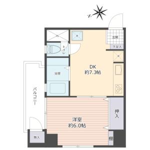 1DK {building type} in Minamisenju - Arakawa-ku Floorplan