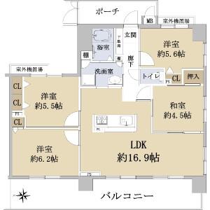 京都市上京区 西山崎町 4LDK {building type} 間取り