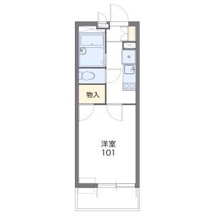 名古屋市千種區今池-1K公寓大廈 房間格局
