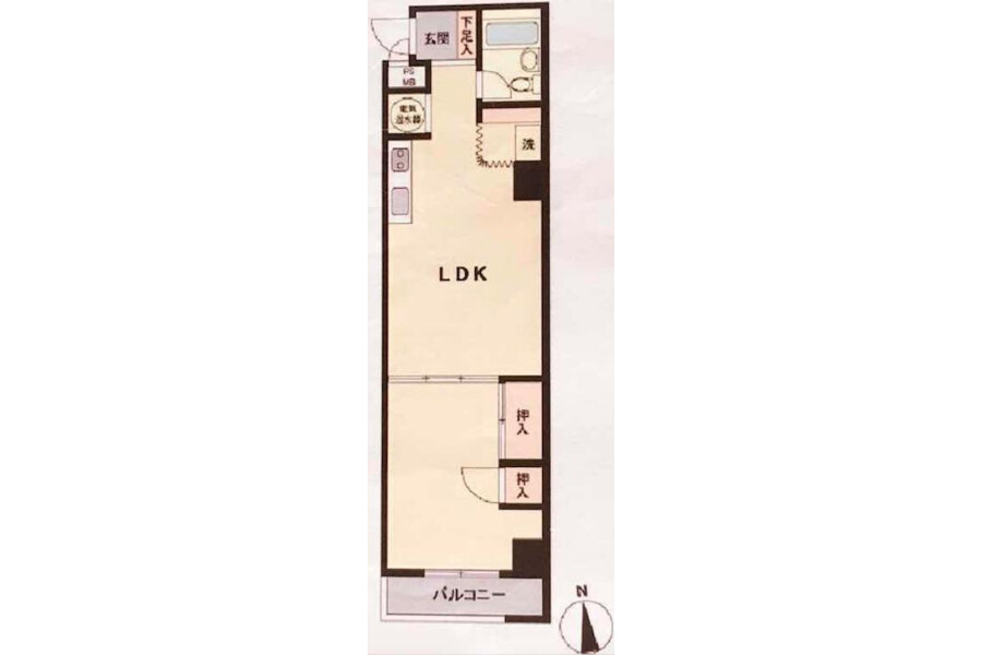 1LDK Apartment to Buy in Sumida-ku Floorplan