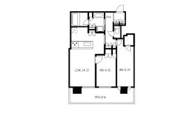 大阪市中央区 北浜 2LDK アパート