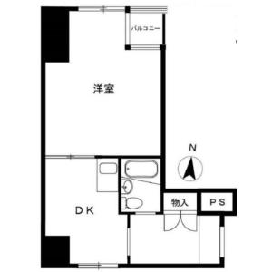 新宿区富久町-1DK{building type} 楼层布局
