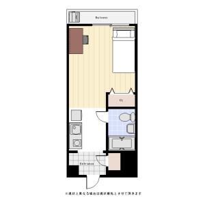 1R Mansion in Nishiochiai - Shinjuku-ku Floorplan