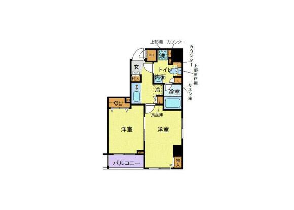 2K Apartment to Rent in Shinagawa-ku Floorplan