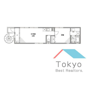 1LDK Apartment in Koenjiminami - Suginami-ku Floorplan