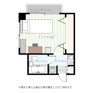 1K Mansion in Gohongi - Meguro-ku Floorplan