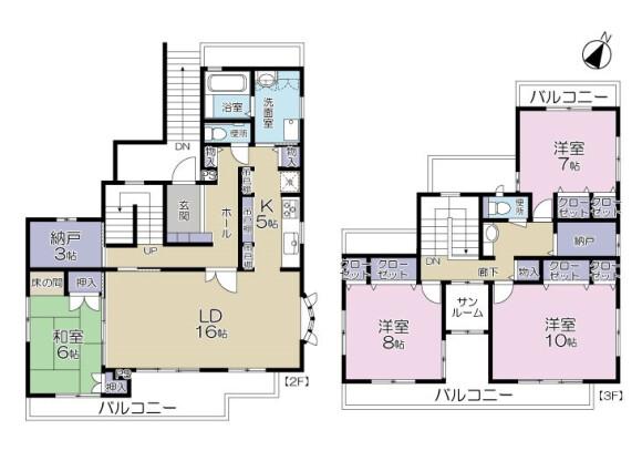 4LDK Apartment to Rent in Arakawa-ku Floorplan