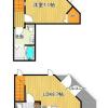 1LDK Apartment to Rent in Minato-ku Floorplan