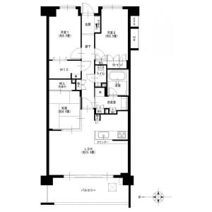 3LDK {building type} in Maedacho - Yokohama-shi Totsuka-ku Floorplan
