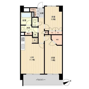 2LDK Mansion in Wakabayashi - Setagaya-ku Floorplan