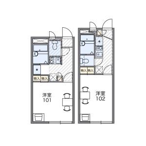 1K Apartment in Nishiki - Nagasaki-shi Floorplan