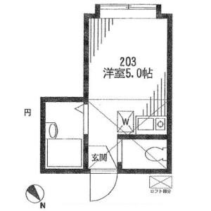 1R Apartment in Sengoku - Bunkyo-ku Floorplan