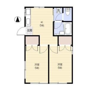 2K Apartment in Daizawa - Setagaya-ku Floorplan