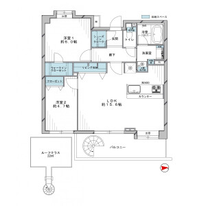 2LDK {building type} in Hachimanyama - Setagaya-ku Floorplan