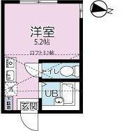 1R Apartment in Kaminomiya - Yokohama-shi Tsurumi-ku Floorplan