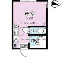 1R Apartment to Rent in Yokohama-shi Tsurumi-ku Floorplan