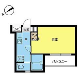 1K Mansion in Ichigayadaimachi - Shinjuku-ku Floorplan