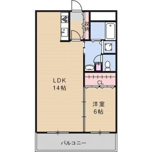 1LDK Mansion in Oyodominami - Osaka-shi Kita-ku Floorplan