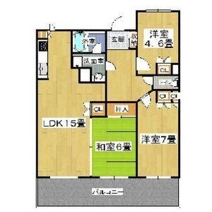 3LDK Mansion in Osaka - Osaka-shi Tennoji-ku Floorplan