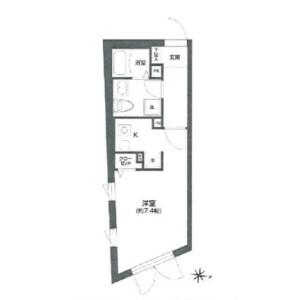 1R Mansion in Koyama - Shinagawa-ku Floorplan