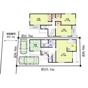 大阪市西淀川区中島-4LDK{building type} 楼层布局