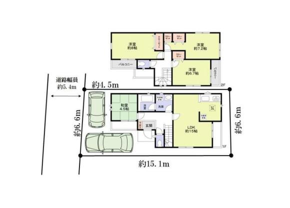4LDK House to Buy in Osaka-shi Nishiyodogawa-ku Floorplan