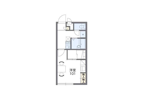 1K Apartment to Rent in Itoshima-shi Floorplan