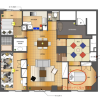 3LDK Apartment to Rent in Shinjuku-ku Floorplan
