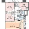在江东区内租赁3LDK 公寓大厦 的 楼层布局