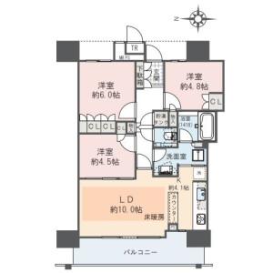 江东区豊洲-3LDK公寓大厦 楼层布局