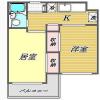 在品川區內租賃2K 公寓大廈 的房產 房間格局