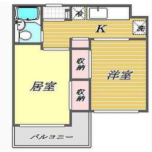 品川區西大井-2K公寓大廈 房間格局