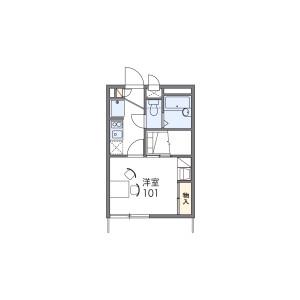1K Apartment in Tokiwamachi - Machida-shi Floorplan