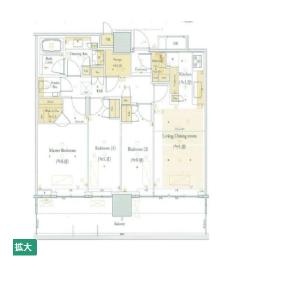 港區浜松町-3LDK公寓 房間格局