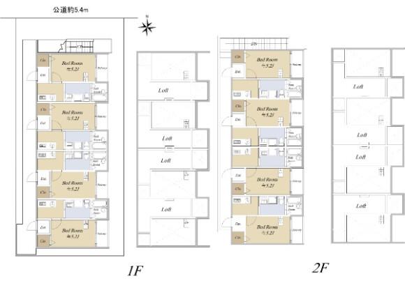在名古屋市中川區購買整棟 公寓的房產 房間格局