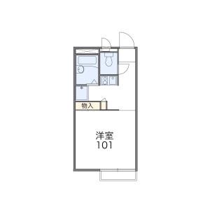 武藏村山市神明-1K公寓 楼层布局