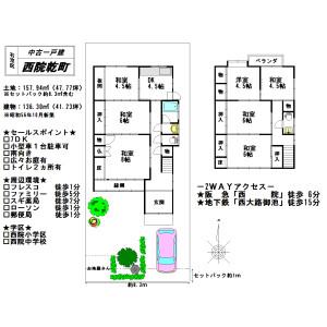 7DK {building type} in Saiin inuicho - Kyoto-shi Ukyo-ku Floorplan