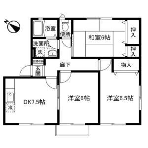 3DK Apartment in Chuorinkannishi - Yamato-shi Floorplan