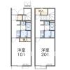 在福岡市中央区内租赁1K 公寓 的 楼层布局