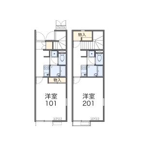 福岡市中央区鳥飼-1K公寓 楼层布局